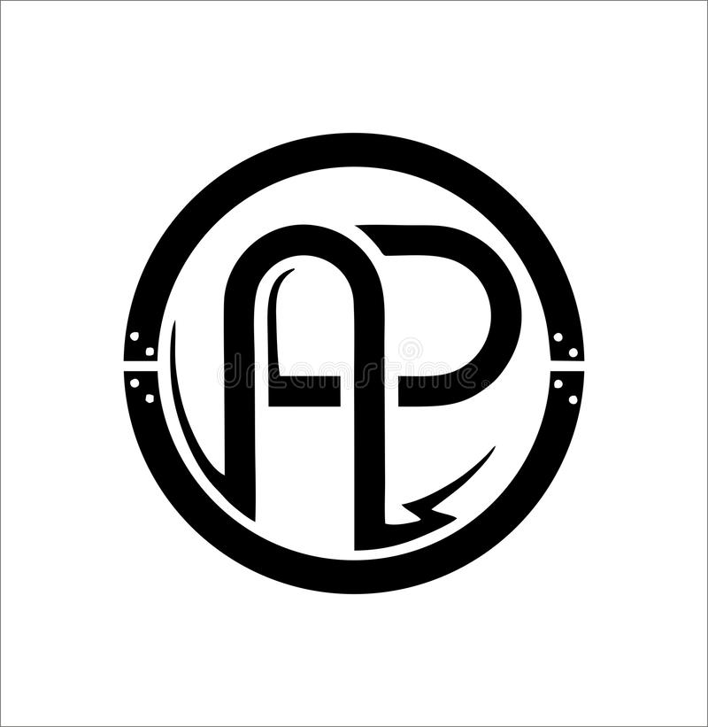brandmerkend embleem stock afbeelding