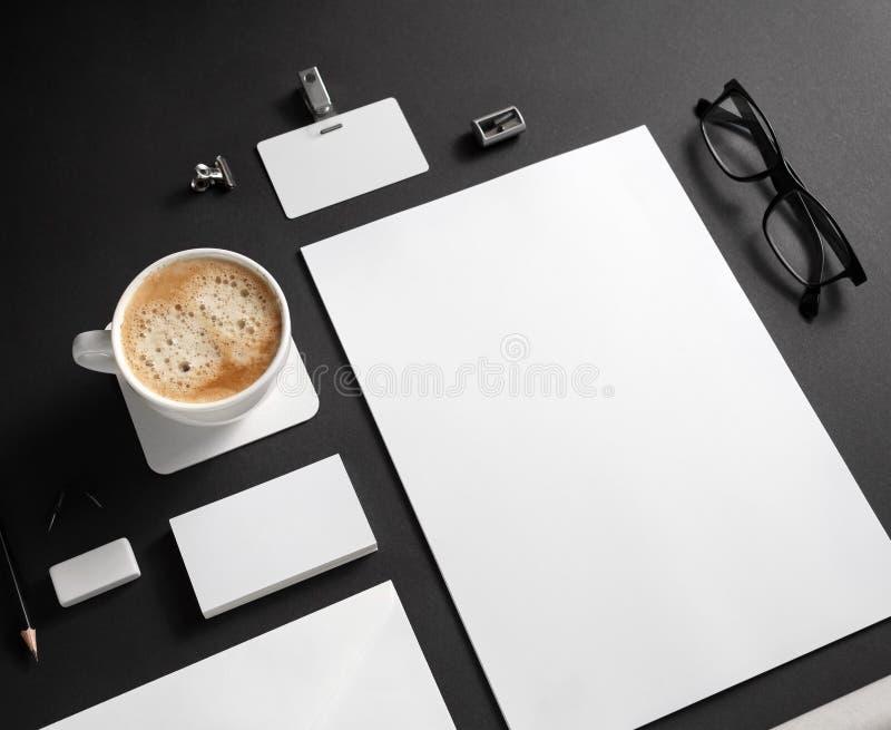 Brandmerkend kantoorbehoeftenmodel royalty-vrije stock foto