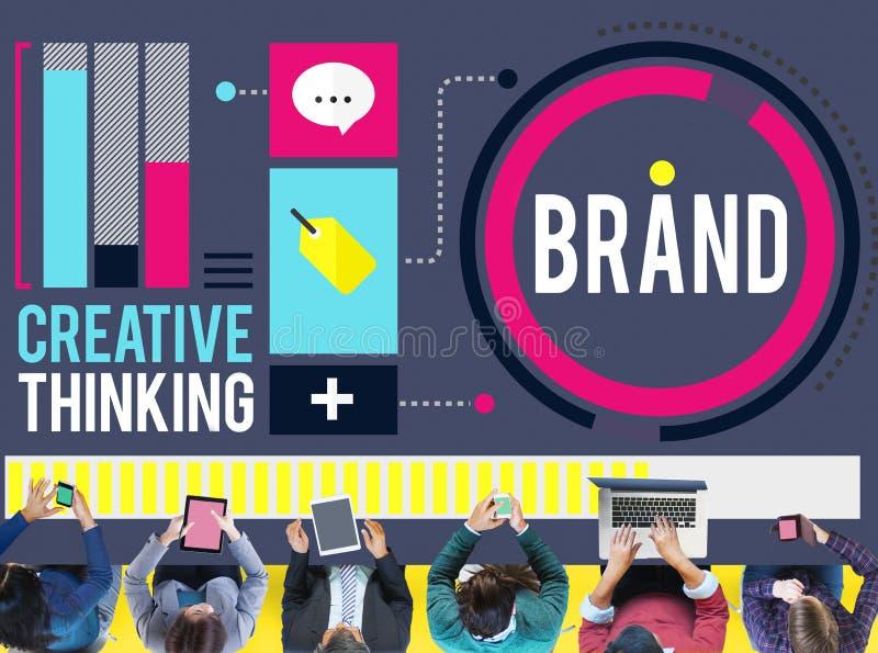 Brandmerkend Marketing van de Bedrijfs reclameidentiteit Handelsmerk Conce vector illustratie