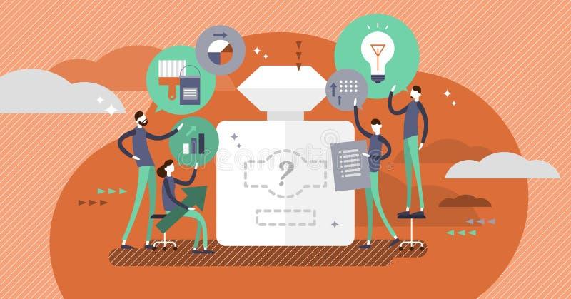 Brandmerkende vectorillustratie De mensen creëren bedrijfbeeld en stijl stock illustratie
