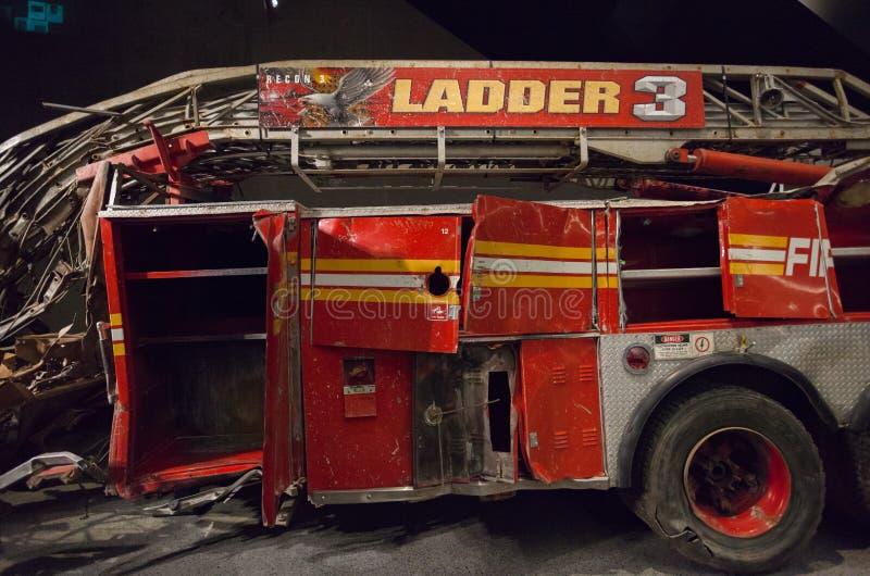 Brandmotor från Stege Företag 3 från ground zero, New York royaltyfri foto