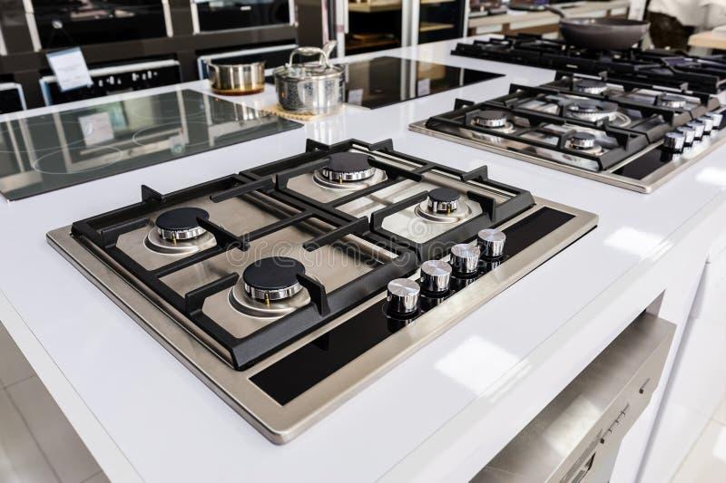 Brandnew benzynowe kuchenki obrazy stock