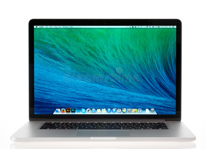 Brandnew Jabłczana MacBook Pro siatkówka obraz stock
