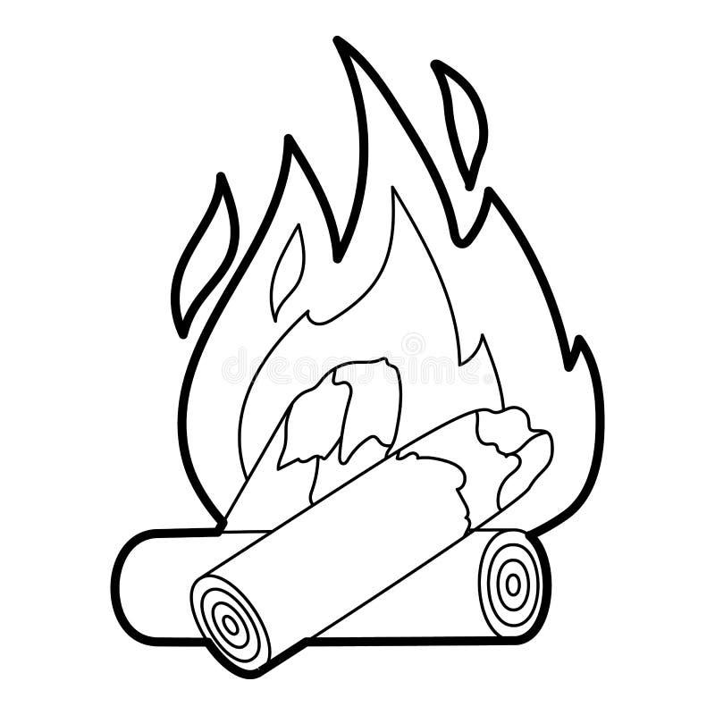 Brandpictogram, overzichtsstijl vector illustratie