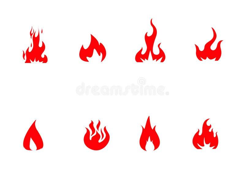Brandpictogrammen geplaatst vector royalty-vrije illustratie