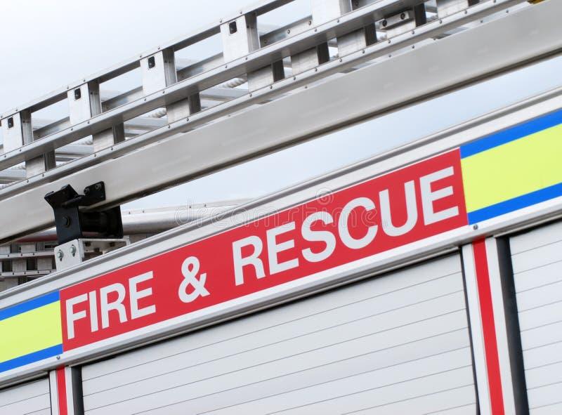 brandräddningsaktion arkivbild