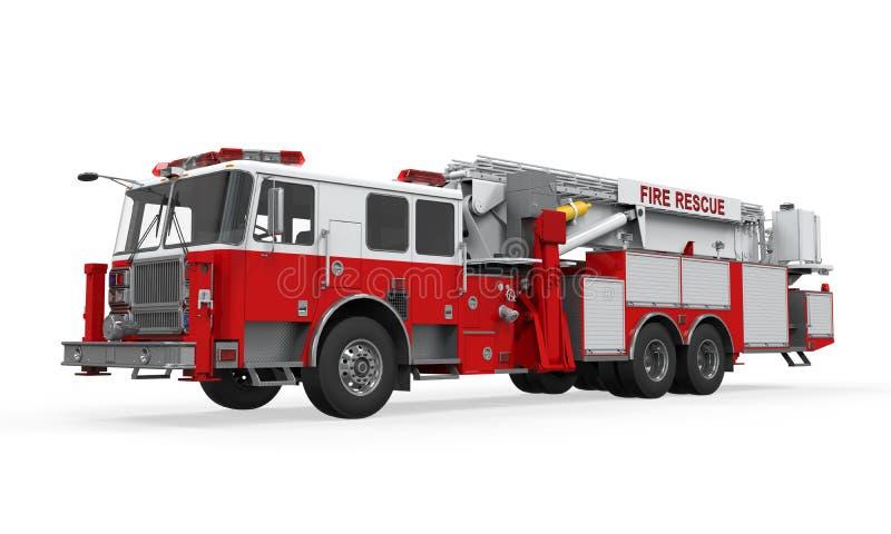 Brandräddningsaktionlastbil royaltyfri illustrationer