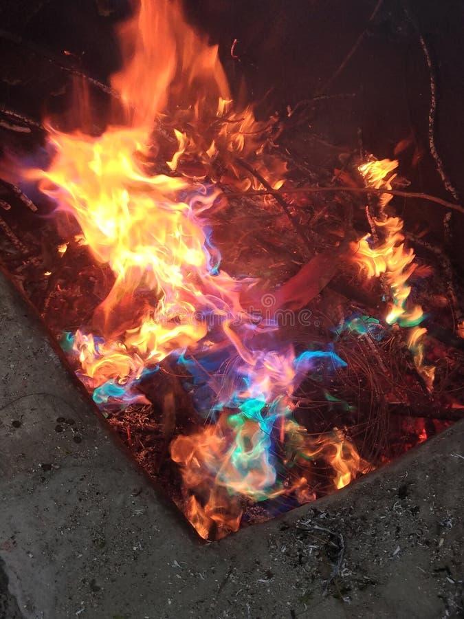 Brandregnbåge royaltyfri bild
