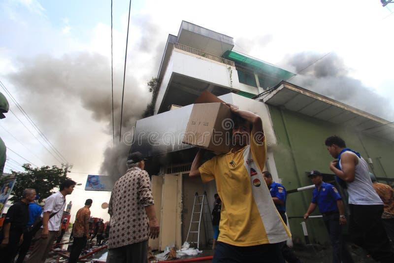 Brandschaden lizenzfreie stockfotografie
