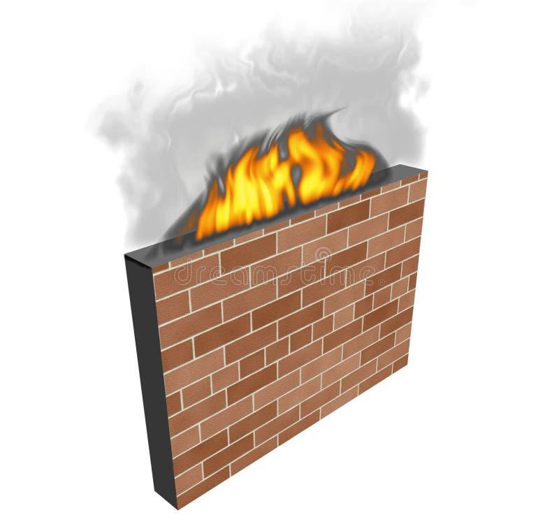 Brandschott stock abbildung