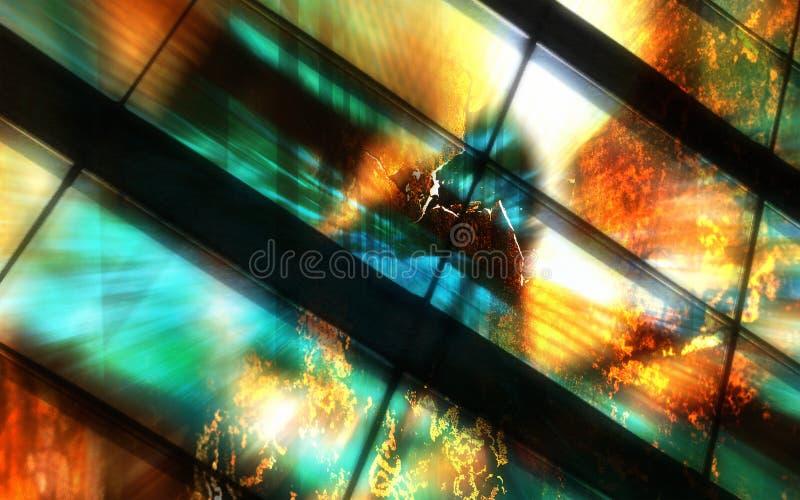 Brandschott-Explosion-Hintergrund stockfotos