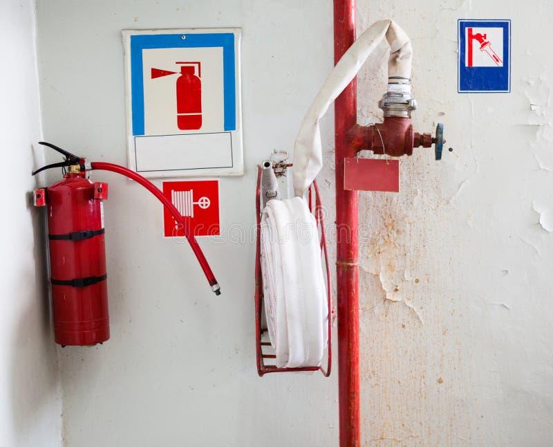 Brandschutzausrüstung bei Chornobyl stockfoto