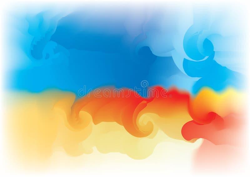 brandsky vektor illustrationer