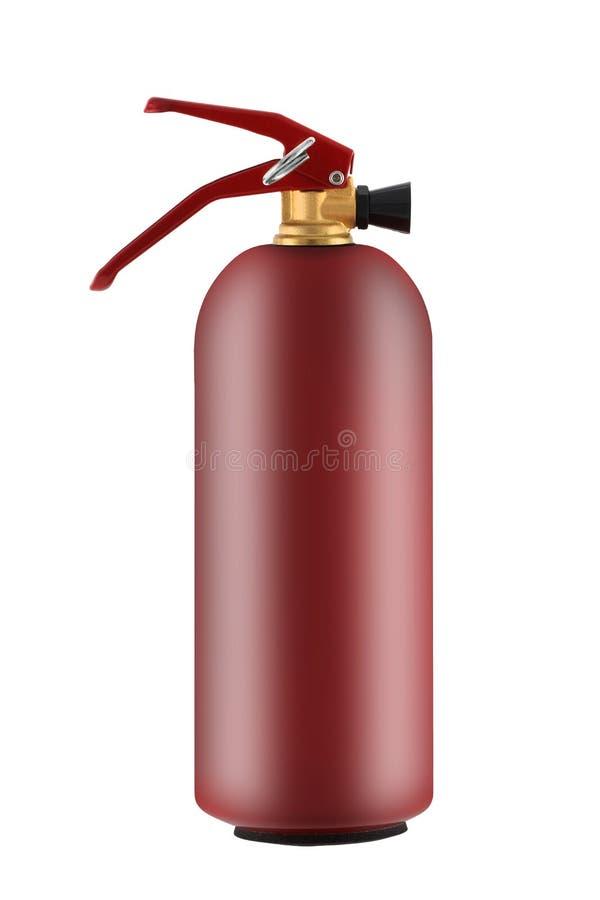 Brandsläckare 1 kg med frigöringstift isolerat på vitt med urklippsbana royaltyfri fotografi