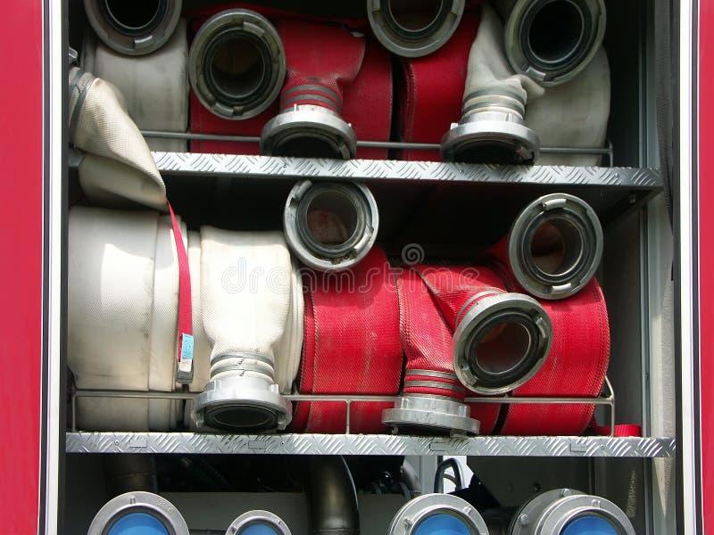 Brandslangen stock afbeelding