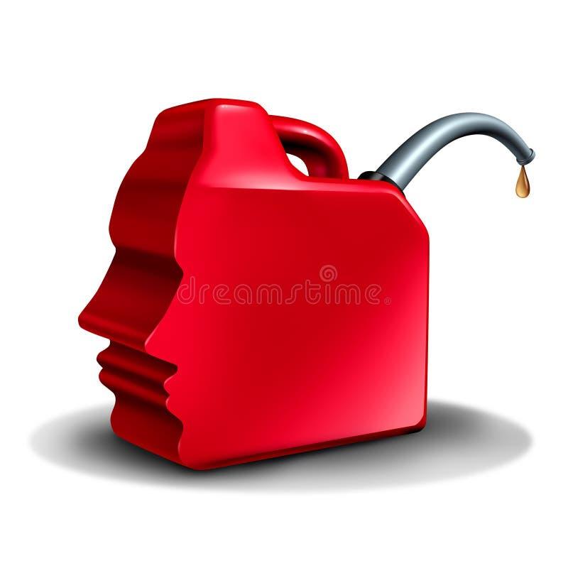 Brandstifter und Brandstiftung stock abbildung