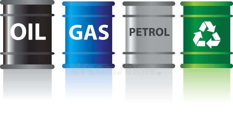 Brandstoffen stock illustratie