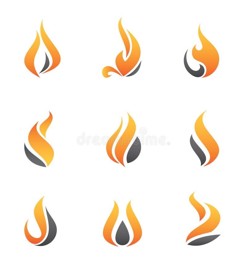 Brandsymbool en pictogram stock illustratie