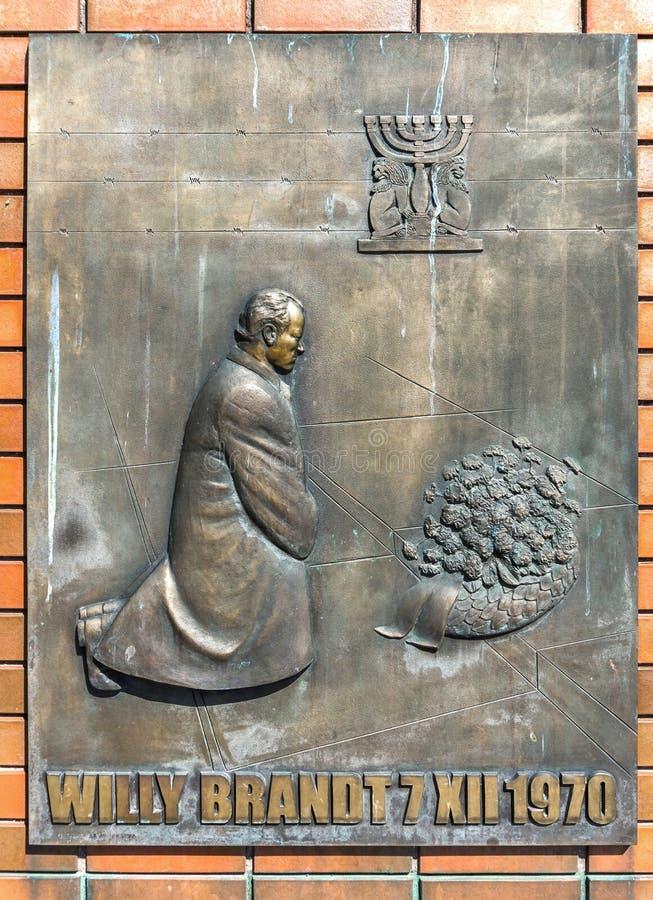 Brandt pomnik obraz stock
