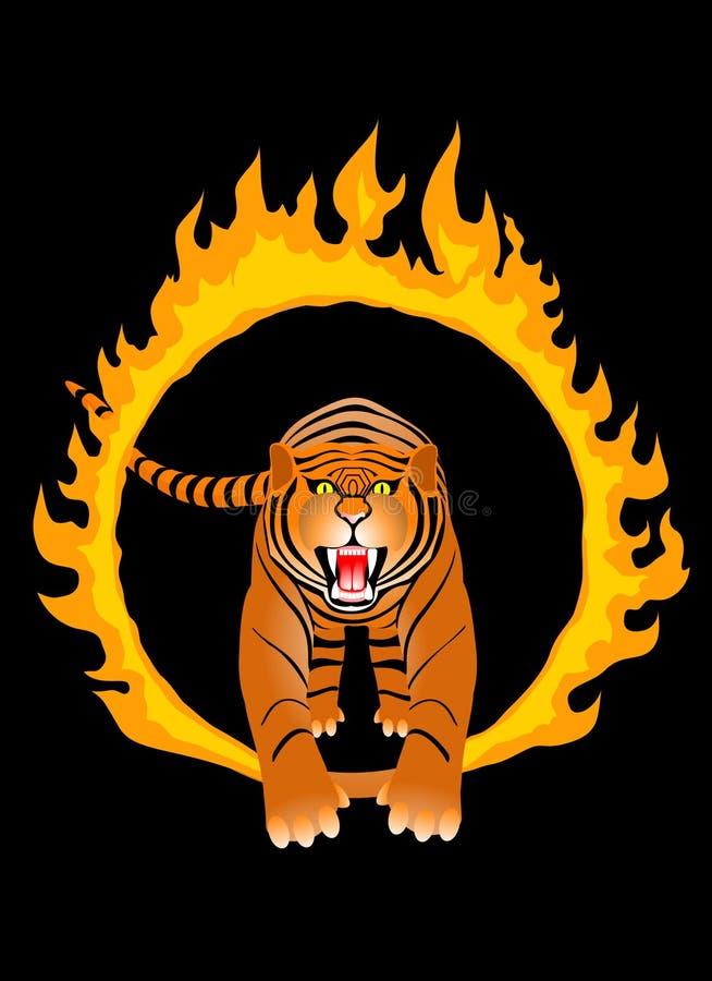 brandtiger stock illustrationer