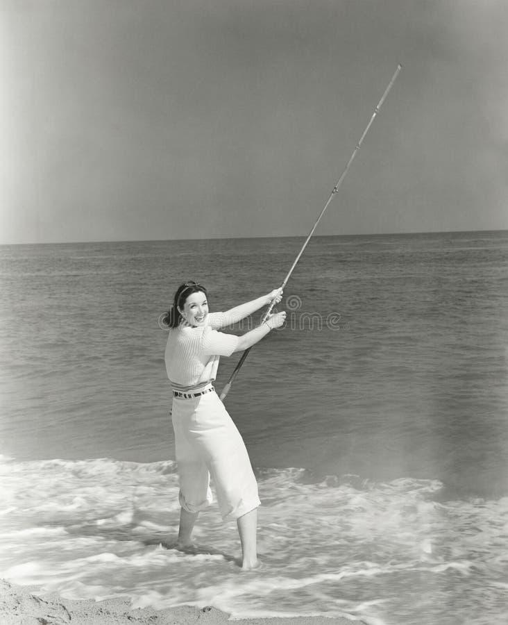 Brandung-Fischerei Pole lizenzfreies stockbild