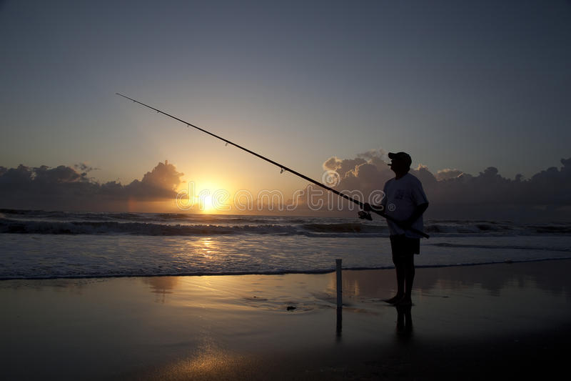 Brandungfischen stockfoto