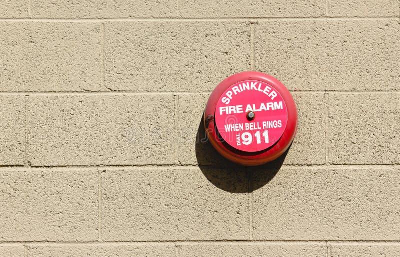 Brandvarningsklocka royaltyfri fotografi