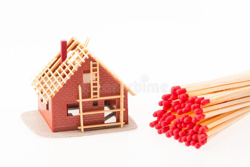 Brandverzekering stock afbeelding