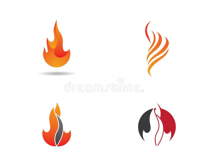 Brandvlam Logo Template royalty-vrije stock afbeeldingen