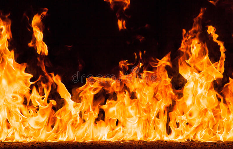 Brandvlammen royalty-vrije stock foto's