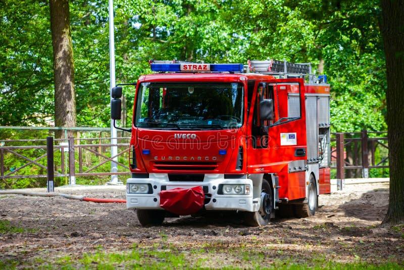 Brandvrachtwagen royalty-vrije stock foto