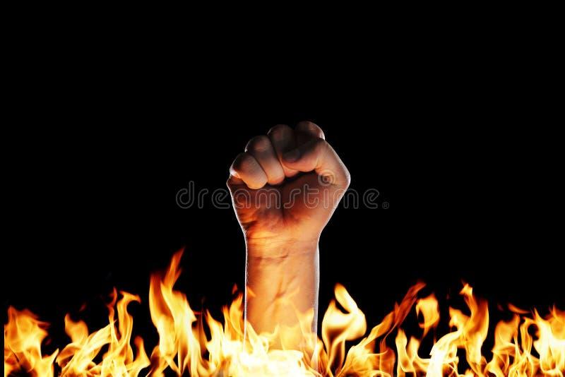 Brandvuist stock afbeelding