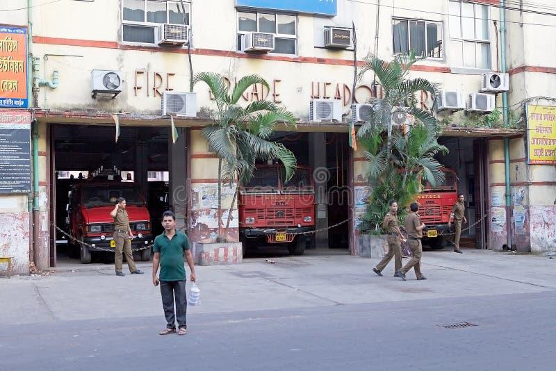 Brandweer de West- van Bengalen, Kolkata, India stock foto's