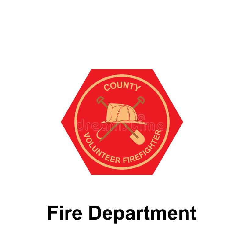 Brandweerkorps, het pictogram van de Provincie Element van het tekenpictogram van het kleurenbrandweerkorps Grafisch het ontwerpp vector illustratie