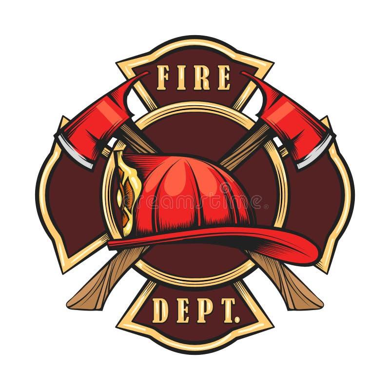 Brandweerkorpsembleem royalty-vrije illustratie
