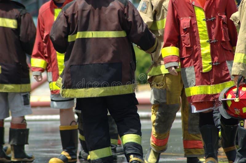Brandweerlieden royalty-vrije stock foto's