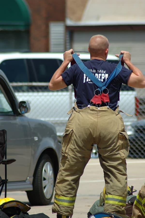 Brandweerlieden royalty-vrije stock afbeelding