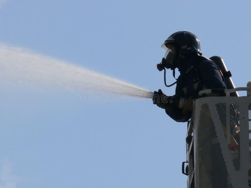 Brandweerman 2 royalty-vrije stock afbeelding