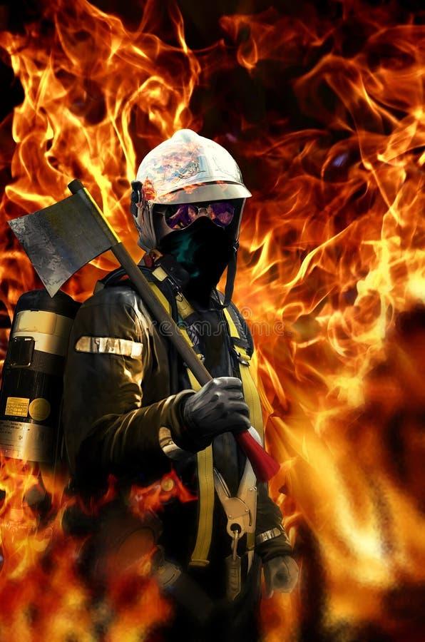 Brandweerman vector illustratie