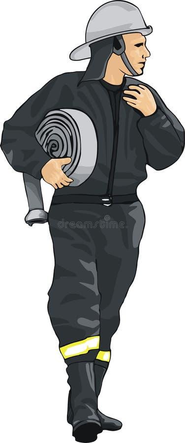 Brandweerman royalty-vrije illustratie