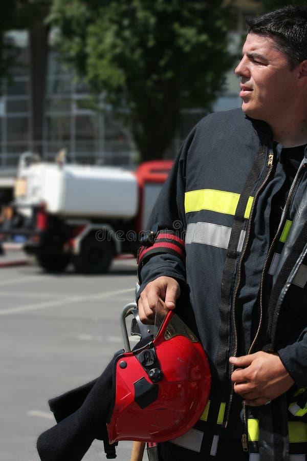 Brandweerman stock fotografie