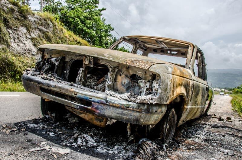 Brandwond uit stock foto