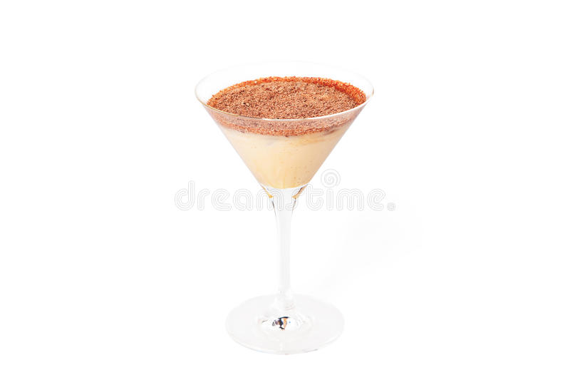 Brandy cocktail. On white background royalty free stock image