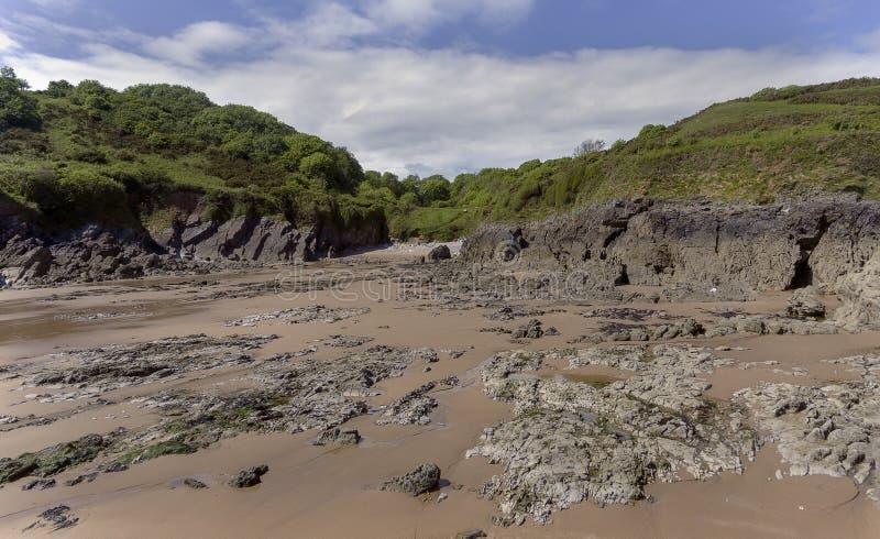 Brandy Cove Gower Swansea Reino Unido foto de archivo