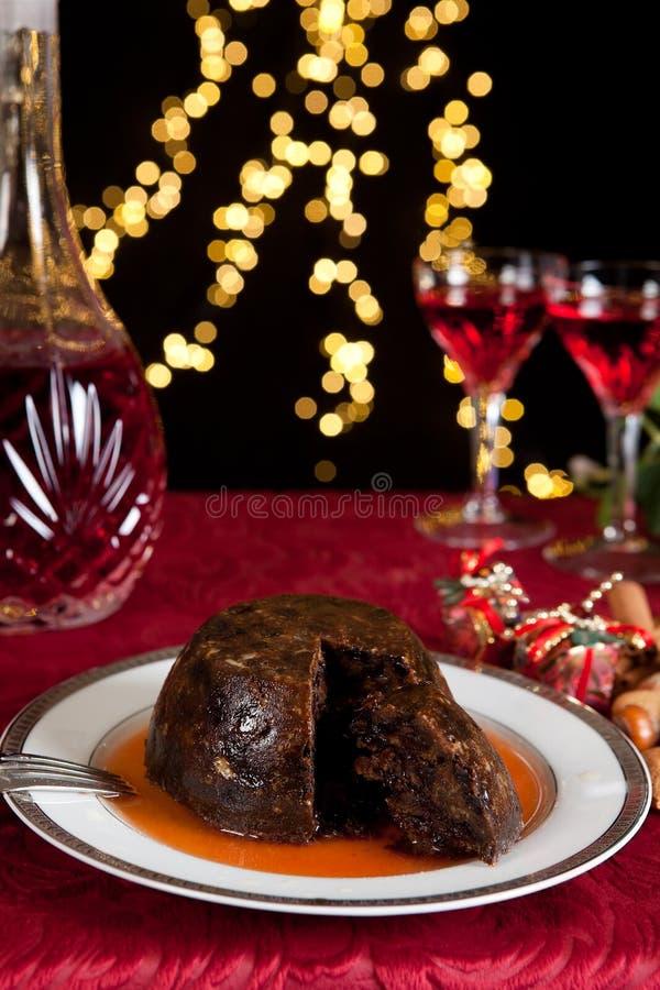 Brandy e pudding immagine stock libera da diritti