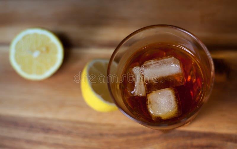 Brandy et citron photographie stock
