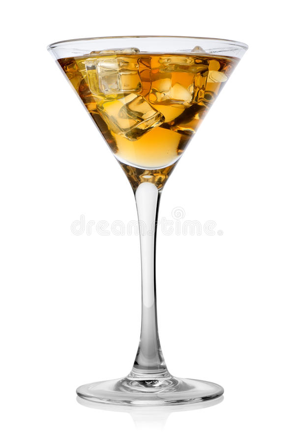 Brandy with ice stock image