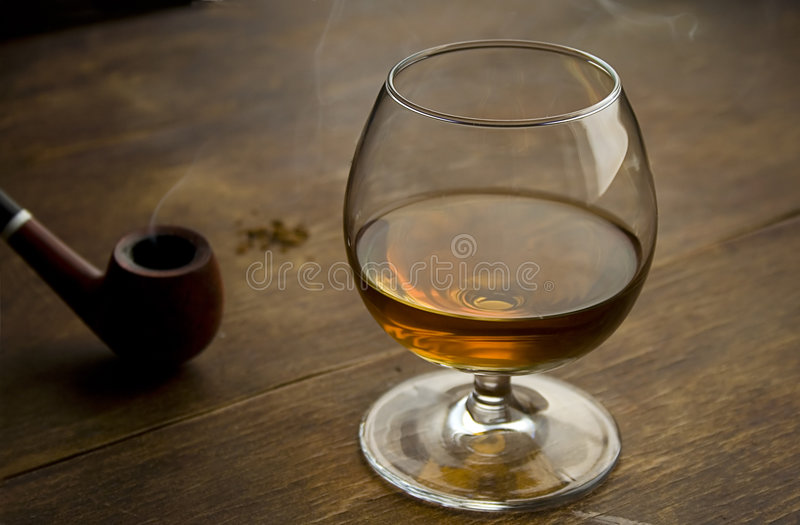 Download Brandy and pipe I stock photo. Image of whisky, pipe, object - 963750