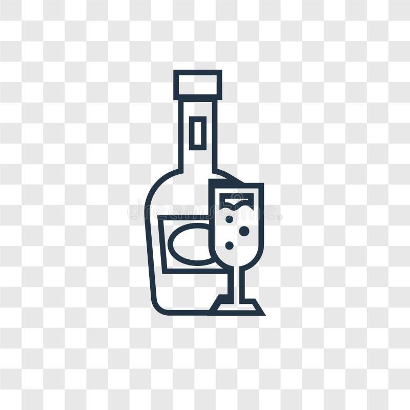 Brandy pojęcia wektorowa liniowa ikona odizolowywająca na przejrzystym backgr ilustracja wektor