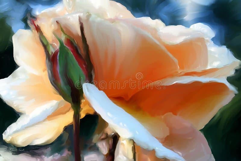 Brandy Rose Blossom ilustração do vetor